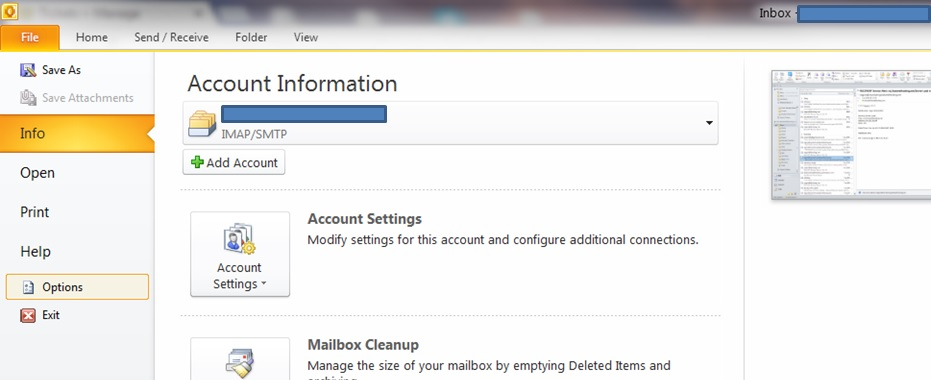 how to set up a auto backup button